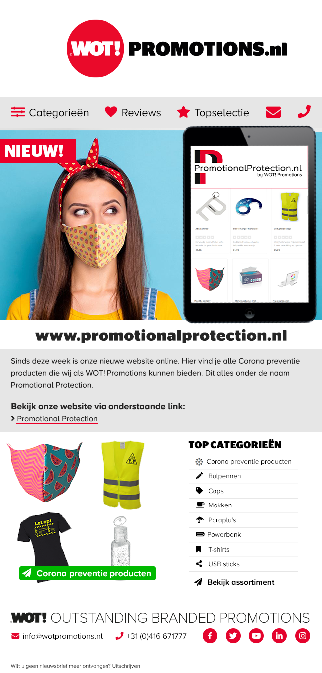 Nieuwsbrief mei Promotional Protection