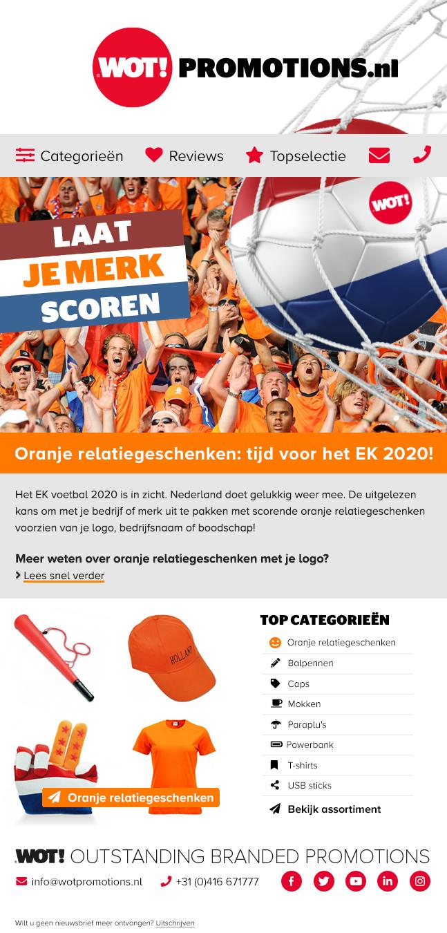 Nieuwsbrief februari Oranje Relatiegeschenken