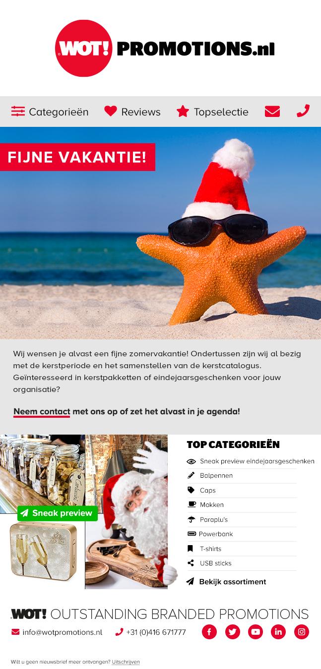 Nieuwsbrief juli fijne vakantie